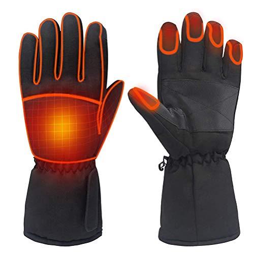 EMUKOEP Guantes calefactables para mujeres y hombres, guantes térmicos impermeables para invierno, cálidos, para deportes al aire libre, camping, senderismo, esquí