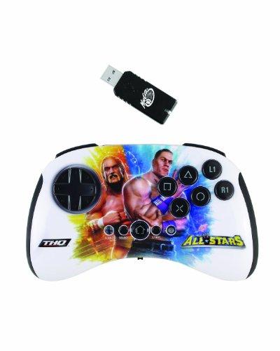 Mad Catz WWE All STARS Wireless BrawlPad - Volante/mando (Gamepad, Playstation 3, D-pad, Select, Start, Turbo, Inalámbrico, Gameport, 2.4 GHz) Multi