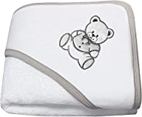 Ω NOSBEBES Fabriquer en EUROPE La serviette prolonge votre bain en enveloppant votre bébé dans une confortable serviette brodée avec un bonnet, ce qui rend l'expérience de la salle de bain plus agréable pour vous et votre petit. Ω Beau coloris : «BLA...