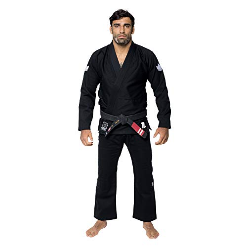 KINGZ IBJJF Mens - The One | Brazilian Jiu Jitsu Gi | Black A0