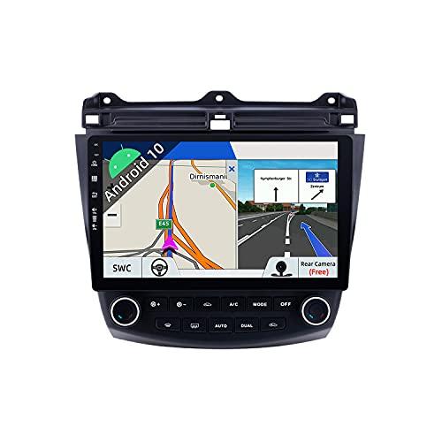 JOYX Android 10 Autoradio Compatibile Honda Accord 7th (2002-2007) - [2G+32G] - Telecamera Canbus Gratuiti - 10.1 Pollici 2 DIN - 2.5D Screen - Supporto DAB 4G WLAN BT5.0 Carplay Volante Android Auto
