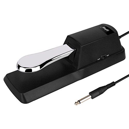 Mugig Pedale Sustain per Tastiera Keyboard, stile pianoforte adatto per Tastiera Yamaha, Roland, Casio, Korg, Tastiera MIDI e Digital Piano con tappetino antiscivolo