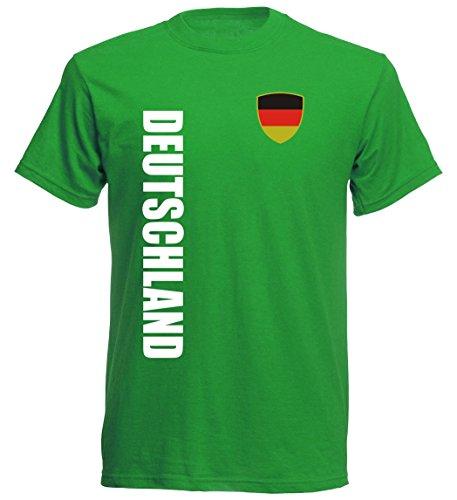 Deutschland Kinder T-Shirt - TS-10 - EM 2016 - grün - Fussball Trikot (104)