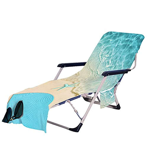 Stillshine. Verano Toalla de Microfibra Playa de Arena Estrella de Mar Stampado para Playa, Cubierta para Sillas Plegables, Tumbona,Cubierta para Silla de Salón (Color 5,75 × 210 cm)