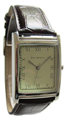 Bergmann Uhr Analog mit Lederarmband BG1924 Vintage