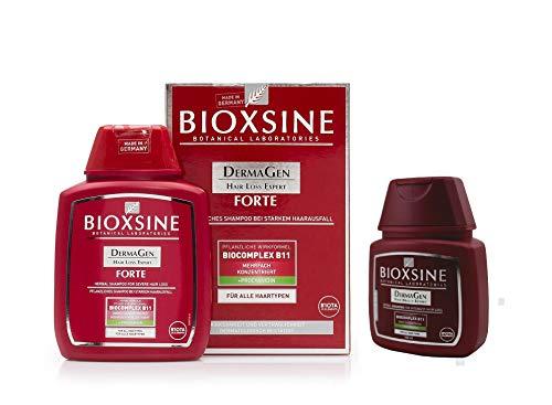 BIOXSINE Travel Set Size Forte Shampoo für alle Haartypen - bei starkem Haarausfall- für Frau und Mann | mit pflanzlichem Haarwaschmittel das Haarwuchs beschleunigen 400 ml