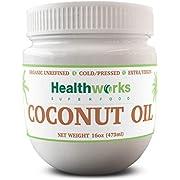 Healthworks Coconut Oil (16 Ounce / 1 Pound) I Organic & Unrefined I Extra Virgin, Cold-Pressed, Keto, Vegan & Non-GMO
