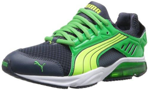 PUMA Men's Powertech Blaze Met Nm Running Shoe,Ombre Blue/Island Green/Fluorescent Yellow,9.5 M US