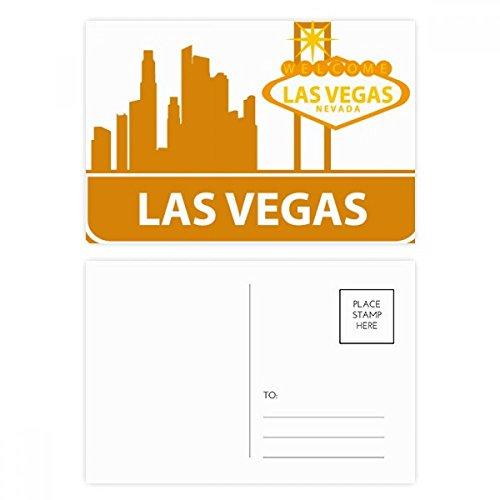 DIYthinker Willkommen nach Las Vegas Nevada Amerika Postkartenset Geburtstag dankt Karte Mailing Side 20pcs 5.7 Zoll x 3.8 Zoll Mehrfarbig