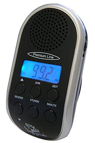 Fahrradradio mit autom.Sendersuchlauf und MP3 Anschluss,grau ohne Batterien