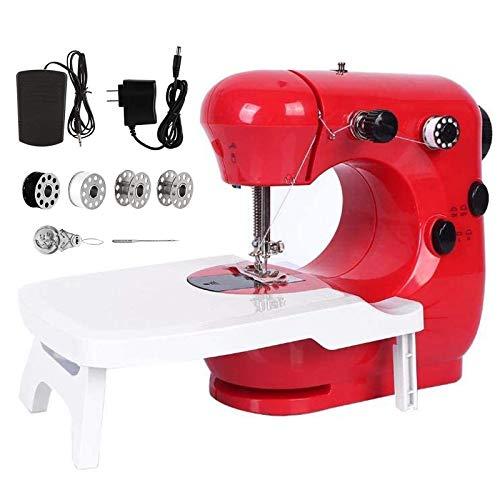 Máquina de Coser, Con luz nocturna y mesa extensible, Con luz nocturna, Portátil y práctica, Apta tanto para principiantes como para amantes de la costura