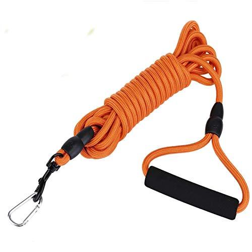 5M Orangefarbene Haustierleine, Spezielle Tracking-Hundeleine für das Training, Geeignet für Kleine Hundewanderungen, Camping, Training, Garten, Strand