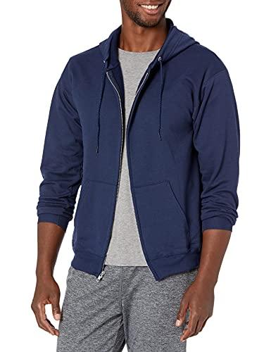 Hanes Men's Full-Zip Eco-Smart Hoodie, Navy, X-Large