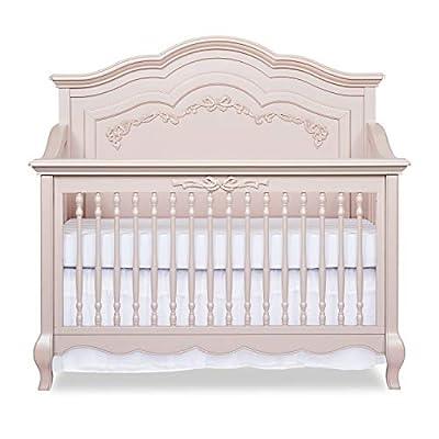 Evolur Aurora 5-in-1 Convertible Crib, Blush Pink Pearl by Evolur