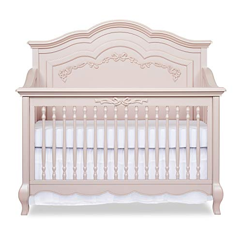 Evolur Aurora 5in1 Convertible Crib Blush Pink Pearl