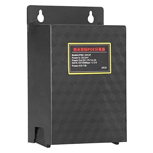 zhuolong Convertidor Adaptador Divisor PoE, 24 V a 12 V, Resistente al Agua para Exteriores, Plug and Play
