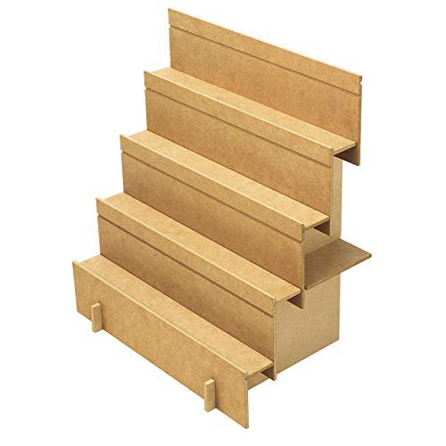 ササガワ ディスプレイ オリジナルワークス 2Way 木製飾り棚 組立式 44-5850