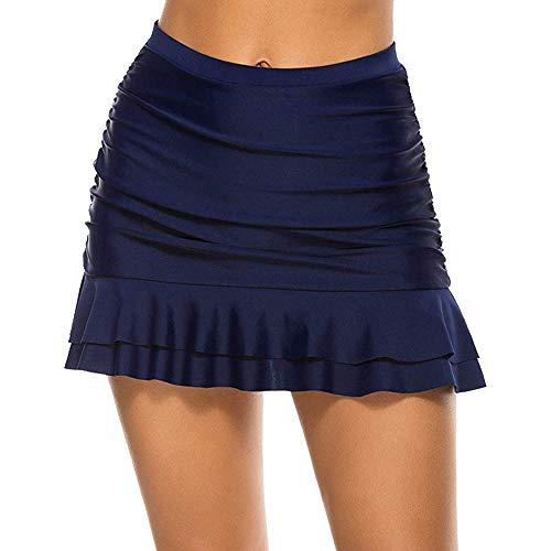 Vertvie dames zwemshorts kant gehaakte bikini rok met geïntegreerde broek hoge taille bikinibroek S-5XL