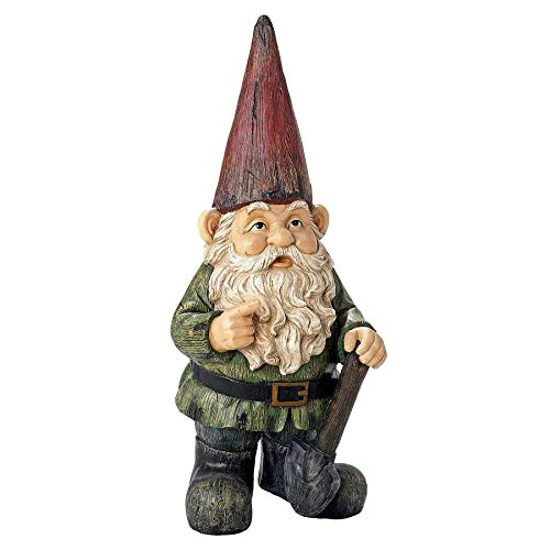 Design Toscano Gottfried The Gigantic Gnome Outdoor Garden Statue, 45 Inch, Polyresin, Full Color
