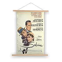 80X50CM-麗しのサブリナ(1954)1映画ポスターキャンバス掛ける絵 吊り絵 巻物 軸物 壁畫 装飾画 インテリア 壁掛け 壁飾り ソファの背景絵画 玄関 リビングと寝室部屋飾り