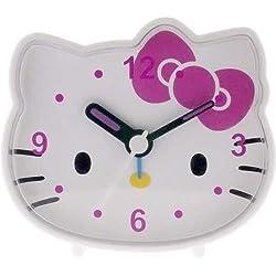 Hello Kitty - Analog Alarm Clock - White/Pink