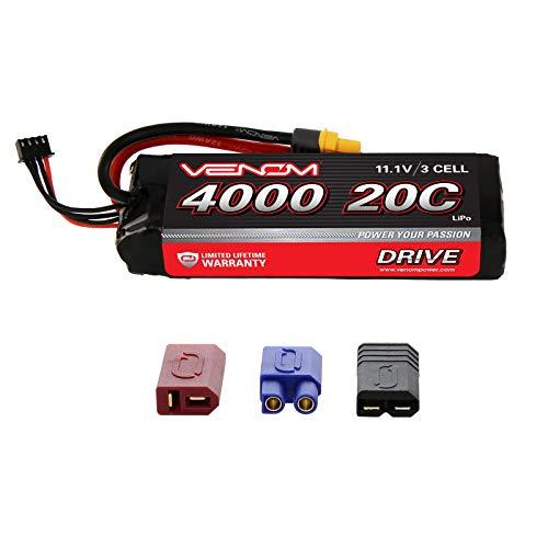 Venom 20C 3S 4000mAh 11.1V LiPo Battery with Universal Plug (EC3/Deans/Traxxas/Tamiya)