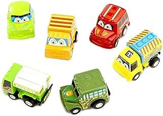 6Pcs Pull Back Car Toys Car Children Racing Car Baby Mini Cars Cartoon Pull Back Bus Truck Kids Toys for Children Boy Gift...