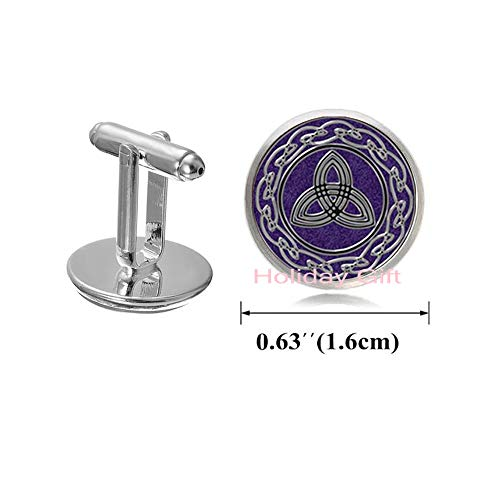 Holiday gift Celtic Knot Cufflinks Celtic Dragon Cufflinks Trinity Cuff Links Triquetra Rune Cuff Links Occult Jewelry,H210 (S1)