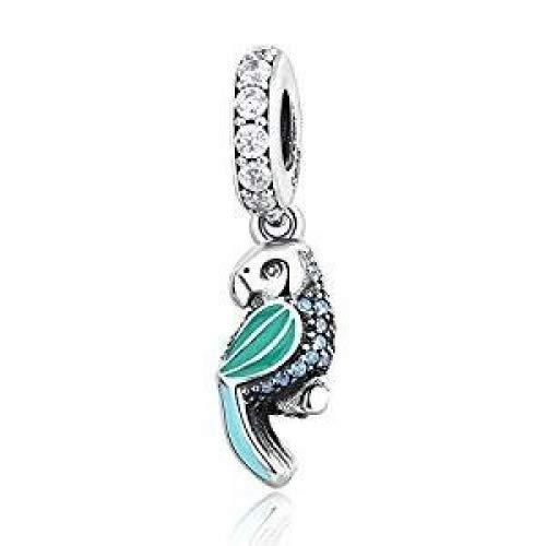 BAKCCI 2016 Sommer authentischen 925 Sterling Silber grün tropischen Papagei DIY passt für Original Pandora Armbänder Charm Schmuck