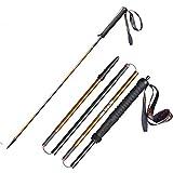 Générique M-Pole Bâtons de Trekking Pliables Ultra légers à Verrouillage Rapide pour randonnée, Course à Pied en Fibre de Carbone, 1 pièce de 120 cm.