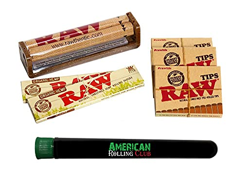 RAW Organic King Size Rolling Papers Combo Includes