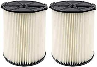 VF4000 Replacement Filter for 5-20 Gallons and Larger Vacuum Cleaner, Replacement VF4000 Filter (2 Pack)