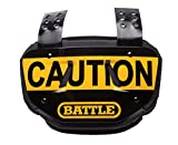 Battle Sports Caution Chrome Football Back Plate - Adult, Yellow