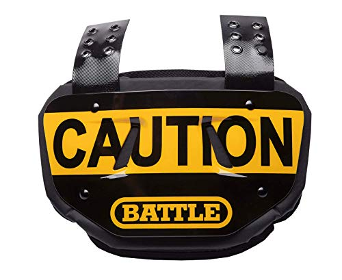 "Battle ""Caution Chrome Football Back Plate - Adult"