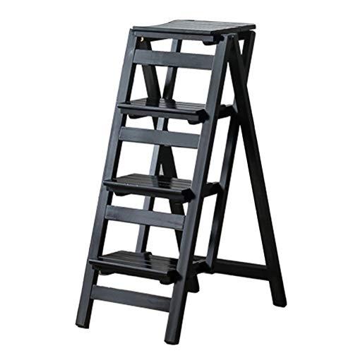 ZENFAI Tabouret D'échelle Escabeau Pliant Durable 4 Étapes Chaise D'escalier Changer Les Ampoules, 3 Couleurs (Couleur : A, taille : 42x68x92cm)