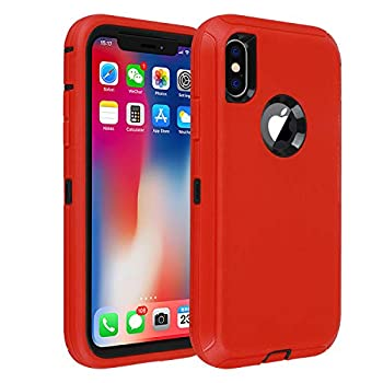 iPhone 10 Case,iPhone Xs Case,Drop Proof Heavy Duty Soft TPU+ Hard PC Hybrid Truly Shockproof 3-Layer Protective for iPhone X 2017 ,XS  2018