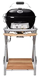 Outdoor chef gas grill Ambri 480 G - ball grill with funnel system and grease collector - gas grill for balcony and terrace - steak grill Ø 48 cm with 5.4 kW