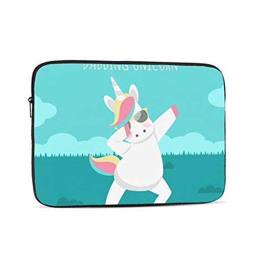 YTUTRfb Unicorn-Doing-Dabbing-Movement 17 Inch Zipper Laptop Sleeve Bag - Unicorn-Doing-Dabbing-Movement Carring Case Cover Protector Handbag for MacBook/Notebook/Ultrabook