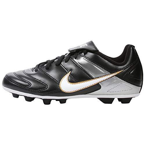 Nike Jr Park II FG-R Soccer Shoes - Black/White (4Y)