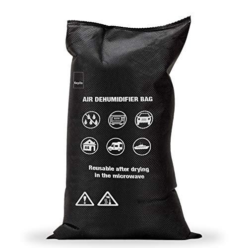 KEPLIN 1KG Silica Gel Car Dehumidifier, Reusable Damp Moisture Absorber Bag, Dry Air, DMF Free, Automotive Dehumidifier, Keeps Away Mould Fog Rust Mildew Condensation Includes Anti Slip Mat (1pc)