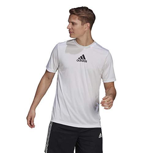 adidas Men's Designed 2 Move 3-stripes T-shirt White/Black Large