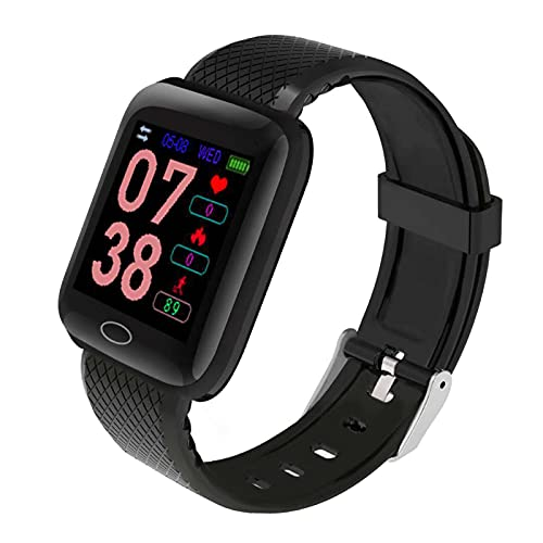Smart Watch for Android Phones Compatible with iPhone Samsung,Waterproof Smartwatch Fitness Tracker Sport Healty Smart Bracelet Heart Rate Monitor Pedometer Fitness Tracker (Black)