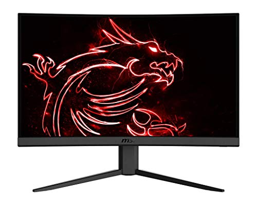 "MSI Optix G24C4 Monitor Gaming 24"" Curvo, Display 16:9 Full HD (1920x1080), Frequenza 144Hz, Tempo di risposta 1ms, AMD Freesync, Pannello VA, Curvatura 1500R, VESA 100x100"