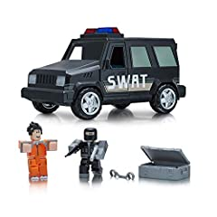 Go out for a spin with this exhilarating vehicle set, featuring a unique character, a vehicle, and accessories Mix and match parts to build your own unique Roblox character Deck out your figures with the included accessories Each package comes with a...
