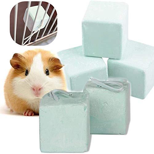 Rata Hamaca Conejo Hámster Mineral de Calcio de Conejillo de Indias Juguetes de Piedras de moler de Dientes de Cubo para Masticar para Sugar Glider Squirrel Hamster Playing Sleeping Pack de 5