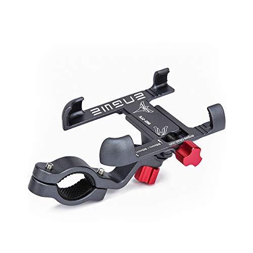 ENGWE Fahrrad Handyhalterung Aluminiumlegierung Motorrad Scooter Fahrrad Universal Handy Halterung Schnellspanner Outdoor Lenker Handy Halter mit 360°Drehbarer Für 55-95mm Smartphone(Grau)