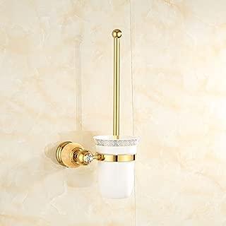 Quiet Lee Wall-Mounted Multi-Function Towel Bar,Bathroom Towel Rack,Towel Bar for Kitchen,Hanger Towel Notepad Copper Towel Rack Bathroom Hardware Pendant Marble Golden Towel Rack,Topaz Toilet Brush
