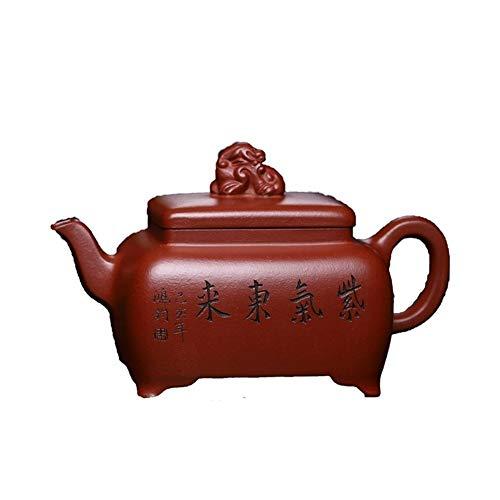 WANGZHI Hay Cuatro Mano de Fang Xiangrui La Pared Interior de la Parte Inferior del surco Manual Qing Zhang Tetera Completa (Color : Purple mud)