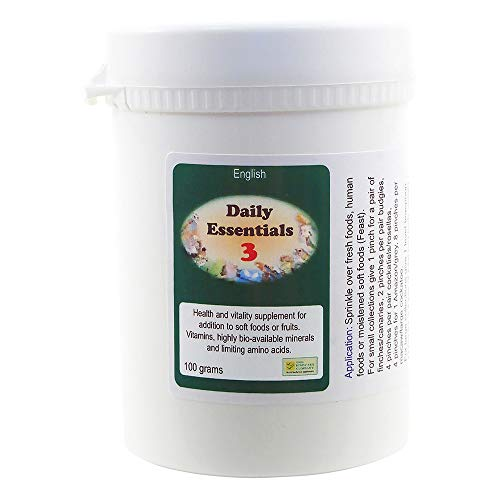Garden Feathers Daily Essentials 3 Powdered Multi-Vitamins for pet birds and Parrots 100g