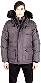 Toboggan Canada Ernie Mid Length Down Jacket, Mens, Charcoal/Black, Ernie-Charcoal/Black-S